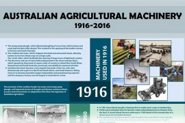 A History of Australian Agricultural Machinery 1916-2016 [infographic]
